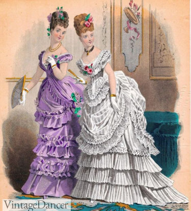 1875 English ball gowns