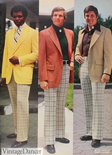 1975 summer blazers and plaid trousers