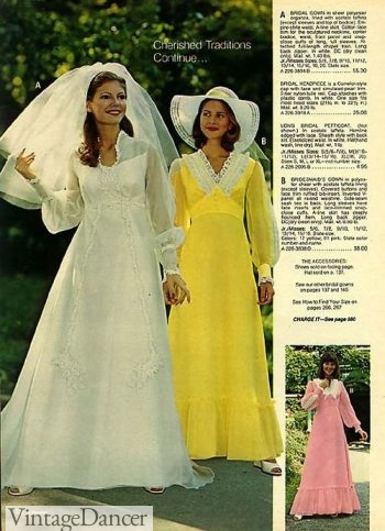 60s Wedding Dresses 70s Wedding Dresses