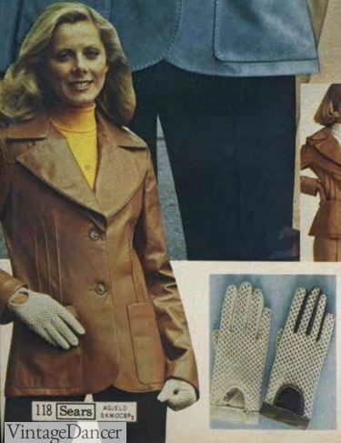 1976 sporty driving gloves women 1970s gloves trends