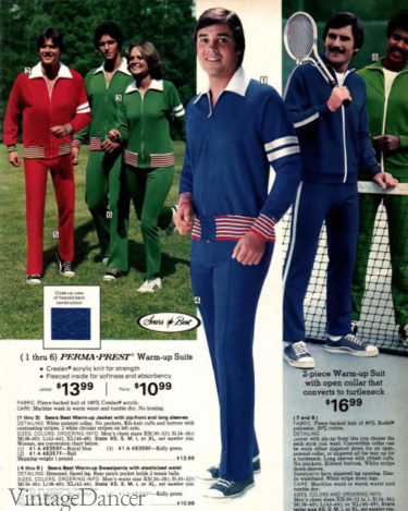 1977 mens tracksuits 70s workout clothes