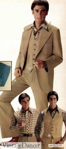 1977 tan denim suit