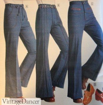 1977 Jeans, high waist bell bottoms