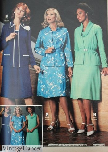 1978 two-piece tunic dresses with belts
