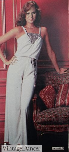 1978 white disco jumpsuit