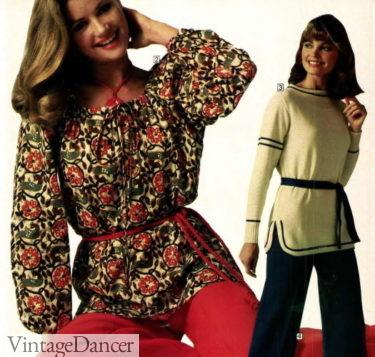 1978 slipover tunic peasant blouses
