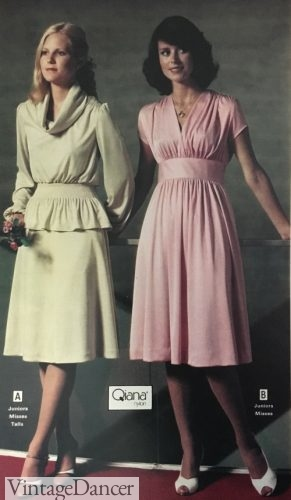 1978 soft and romantic short party dresses