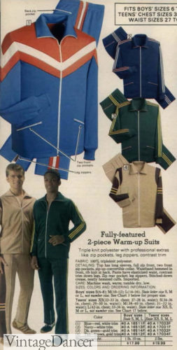 70s workout clothes track jackets