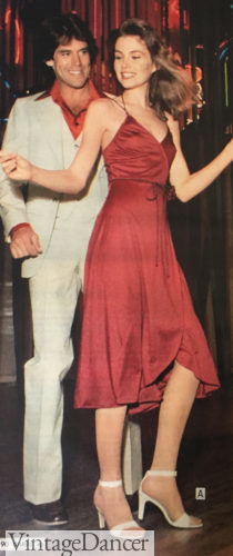 1979 satin disco dress