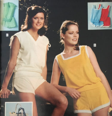 70s exercise clothes terry cloth 1979 running shorts