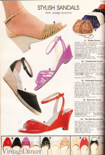 1981 wedge shoes