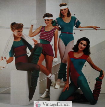 1984 leotards and jazz dance outfits Jazzercise