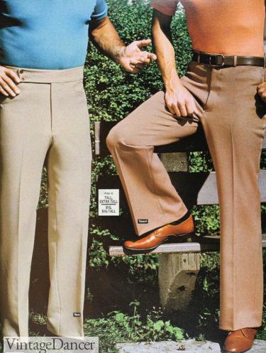 184 mens double knit pants slacks at VintageDancer