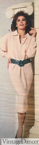 1985 chemise dress with belt