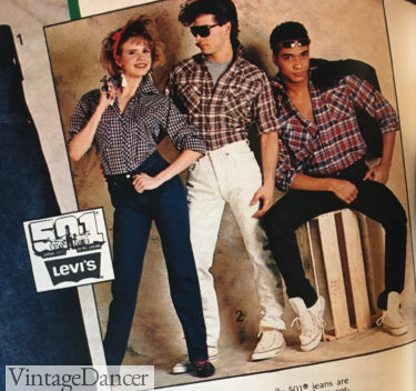 1985 western plaid shirts were cool enough for young guys