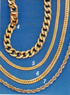 1986 gold chain necklace