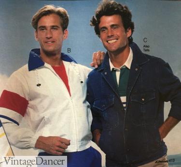 """1987 men's windbreaker """"Olympics"""" themed jacket at VintageDancer"""