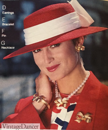 1987 hat with jewelry