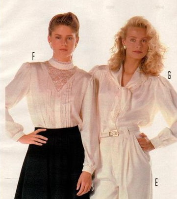 1987 Victorian inspired blouses