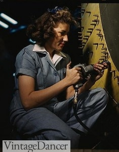 1940s Rosie the Riveter coveralls