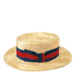 1930s style men's straw boater summer hat