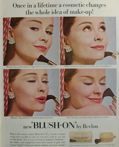 1950s makeup ad, 1954 Revlon blush