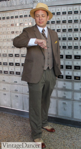 1930s mens outfit DIY brown suit