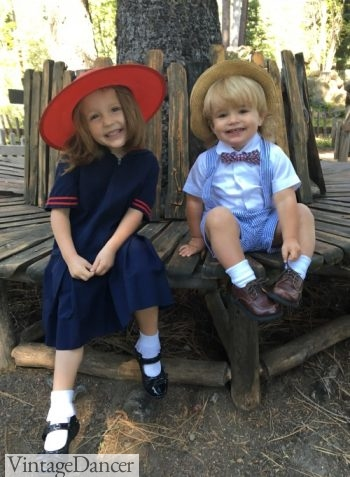 My kiddos dresses for a '20s event