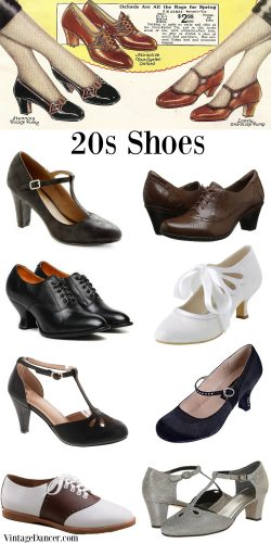 New 20s shoes. Heels, oxfords, flats, and sport shoes