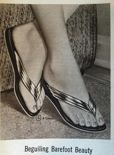 50s flips flops sandals at VintageDancer