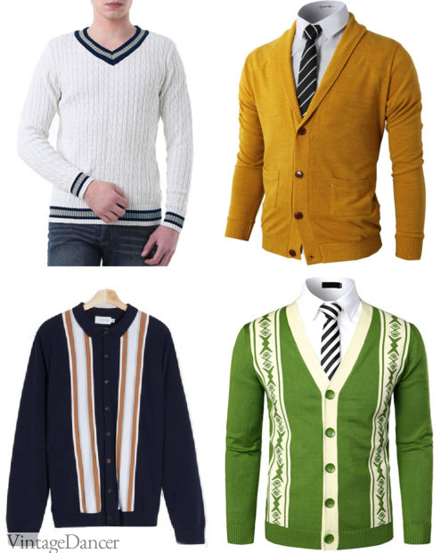 60s style men's sweaters and cardigans jumpers 1960s mens knitwear