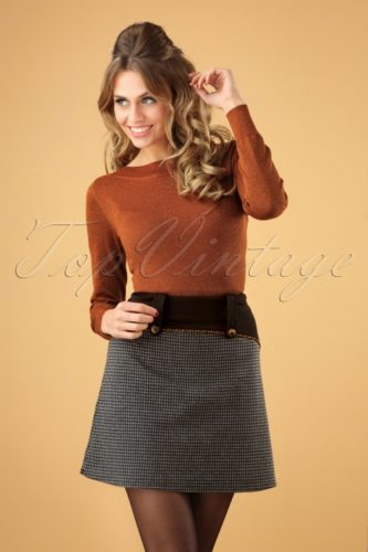 1960s outfit idea Long sleeve top and 60s mini skirt