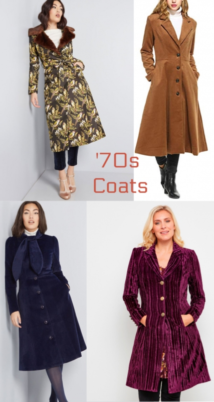 1970s style coats and jackets.