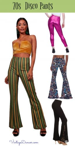 70s pants, jeans, flares, bell bottoms Disco style fashion
