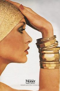 Gold Bangles 1970s jewelry ad