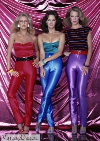 70s spandex jumpsuits, disco fashion