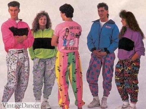 1980s Nylon harem pants, not parachute pants at VintageDancer