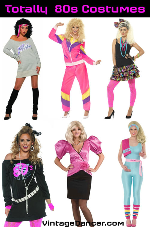 80s costume, party outfits, 1980s girls costume ideas 80s costumes women girls 1980s halloween costume party outfits ideas at VintageDancer