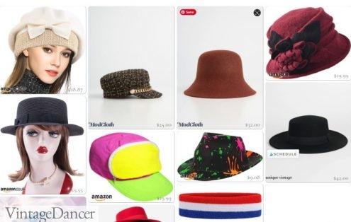 Shop 80s style hats, visors, headbands