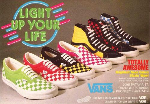 80s Vans in neon colors