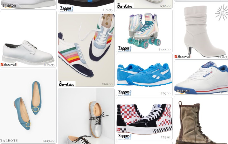 Shop 80s shoes, boots, sneakers, flats, and skates