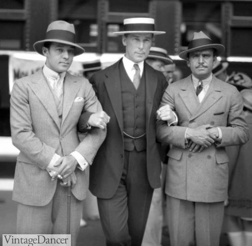 Actors Rudolph Valentino, WS Hart, Douglas Fairbanks 1925