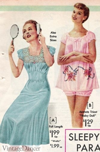 BH 1957 nightgowns baby doll Maisel