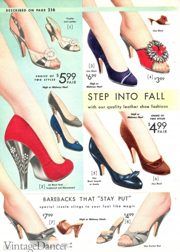 1950s prom shoes party shoes pumps