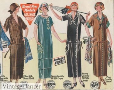 1924 long dress with and without belts