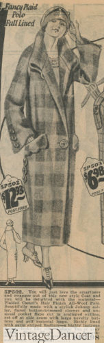 1924 Plaid single button coat