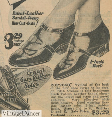 1924 everyday sandals at VintageDancer
