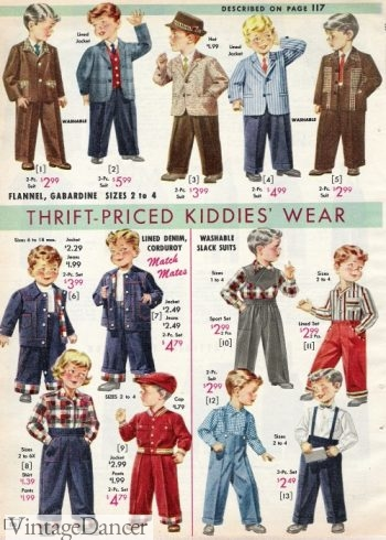 1957 toddler boys outfits