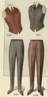 1920 Bruner Woolens Jazz fit vests and trousers