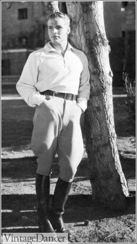 Buster Crabbe's riding outfit with breeches or Jodphurs